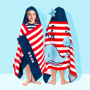 Whale of a time - Personalised Hooded Towel for kids