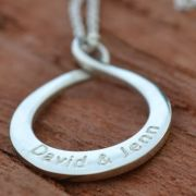 .Personalised Handstamped or Precision Stamped Silver Necklace - Silver Name Pendant Range - Infinite Love
