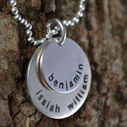 .Personalised Handstamped or Precision Stamped Silver Necklace - Silver Name Pendant Range - Layers of Love