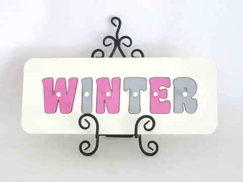 Personalised Kids Wooden Jigsaw Name Puzzle  (Grey/Lolly Pink)