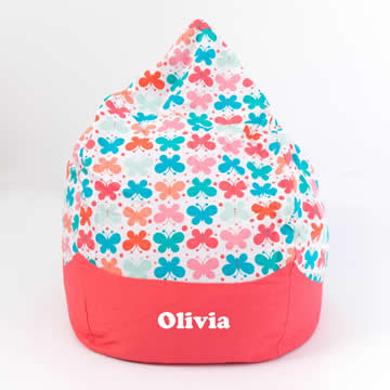 Bean Bag Oversized for Kids - Personalised - Butterfly Kisses