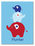 Fleece Blanket Personalised for Kids - Hunter