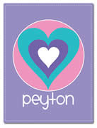 Fleece Blanket Personalised for Kids - Peyton