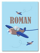 Fleece Blanket Personalised for Kids - Roman