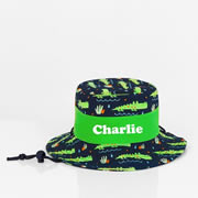 .Hat - Pre School Kids Bucket Hat Personalised - Crocodile