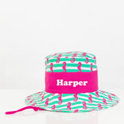 .Hat - Kids Bucket Hat Personalised - Seahorses