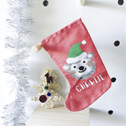 Christmas Stocking for Kids Personalised  - Christmas Bear