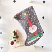 Christmas Stocking for Kids Personalised  - Boys Gnome
