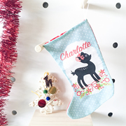Christmas Stocking for Kids Personalised  - Christmas Fawn