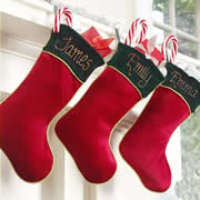 "Christmas Stocking for Kids Personalised Classic 16"" Hand Painted"