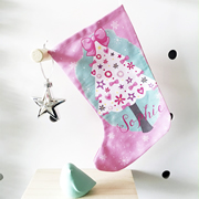 Christmas Stocking for Kids Personalised  - Girls Christmas Tree
