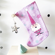 Christmas Stocking for Kids Personalised  - Girls Christmas Gnome