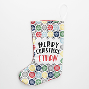 Christmas Stocking for Kids Personalised  - Snowflake Boys