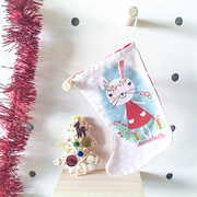 Christmas Stocking for Kids Personalised  - Sweet Christmas Bunny