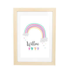 Personalised Birth Print for bedroom  - Girls Rainbow - Available as a print only