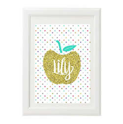 Personalised Wall Art Print for bedroom - Golden Apple - Available as a print only