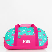 Duffle Overnight Bag for Kids Personalised - Flamingo