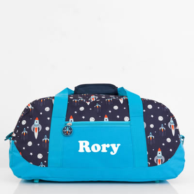 Duffle Overnight Bag for Kids Personalised - Rocket