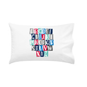 .Personalised Kids Pillowcase Alphabet Boys