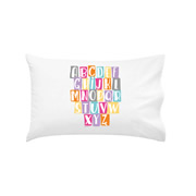 .Personalised Kids Pillowcase Alphabet Girls