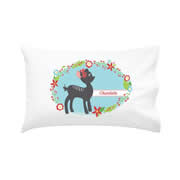 .Personalised Kids Pillowcase Girls Christmas Fawn