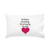 .Personalised Kids Pillowcase Girls Be Brave