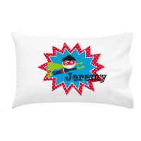 .Personalised Kids Pillowcase Boys Superhero