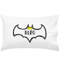 .Personalised Kids Pillowcase - Batman Inspired