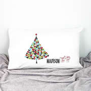 .Personalised Kids Pillowcase Christmas Tree