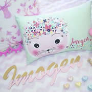 Personalised Cushion for kids - Kittys Floral