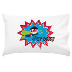 .Personalised Kids Pillowcase - Boys Superhero