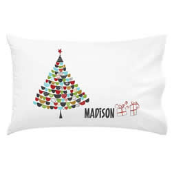 .Personalised Kids Pillowcase - Christmas Tree