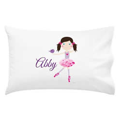 .Personalised Kids Pillowcase - Dancer