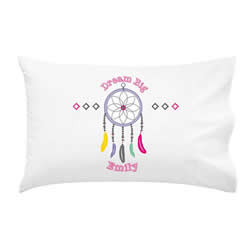 .Personalised Kids Pillowcase - Dreamcatcher Girls