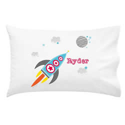 .Personalised Kids Pillowcase - Rocket