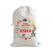 .Christmas Santa Sack Personalised - Australian Animals