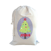 .Christmas Santa Sack Personalised - Boys Christmas Tree
