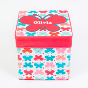 Storage Box Personalised for Kids  - Butterfly Kisses