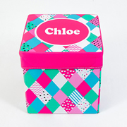 Storage Box Personalised for Kids  - Diamond Confetti
