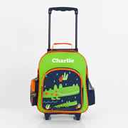 .Personalised Kids Trolley Case - Pre School Travel Case - Crocodile