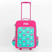 .Personalised Kids Trolley Case - Travel Case -Flamingo