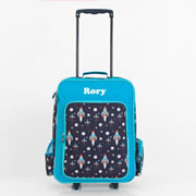 .Personalised Kids Trolley Case - Travel Case - Rocket