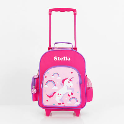 .Personalised Kids Trolley Case - Pre School Travel Case - Unicorn