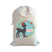 .Christmas Santa Sack Personalised - Fawn Design
