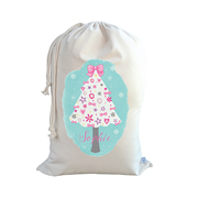 .Christmas Santa Sack Personalised - Girls Christmas Tree
