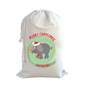 .Christmas Santa Sack Personalised - Merry Merry Elephant