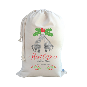 .Christmas Santa Sack Personalised - Mistletoes