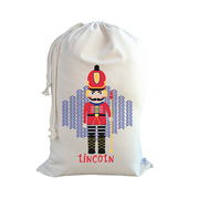 .Christmas Santa Sack Personalised - Nut Cracker Design