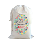 .Christmas Santa Sack Personalised - Snowflake For Boys