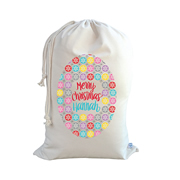 .Christmas Santa Sack Personalised - Snowflake For Girls